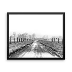 Free My Soul Framed Black and White Poster