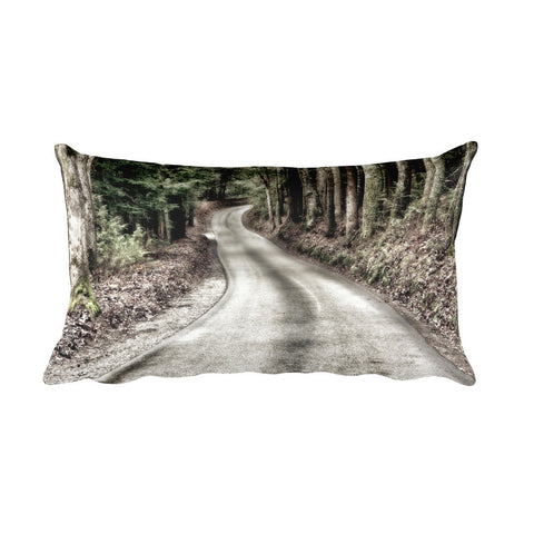 That Road Rustic Throw Pillow