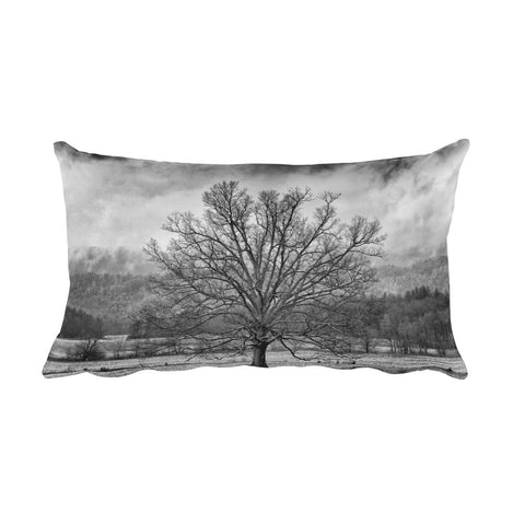 Mighty Black and White Tree Decorative Pillow