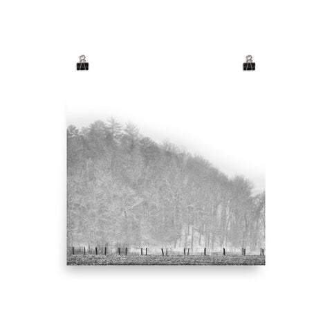 Guided Path Unframed Black and White Poster