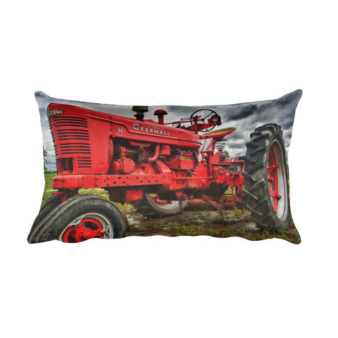 Big Red Tractor Decorative Pillow