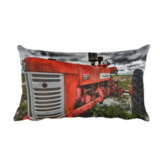 The Foundation Rustic Tractor Decorative Pillow