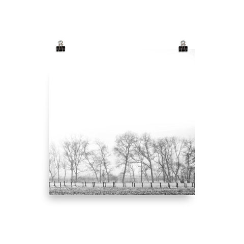On the Outskirts Unframed Black and White Poster