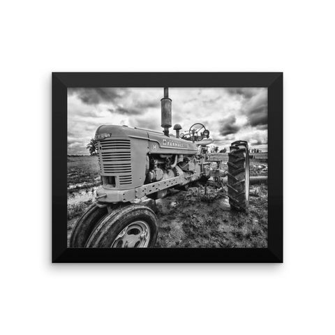 Earnest Framed Black and White Poster
