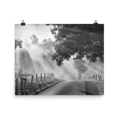 Misty Unframed Black and White Poster