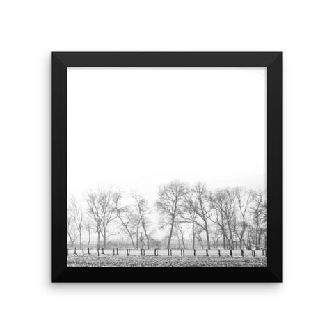 On the Outskirts Framed Black and White Poster