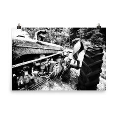 Rusted Mule Unframed Black and White Poster