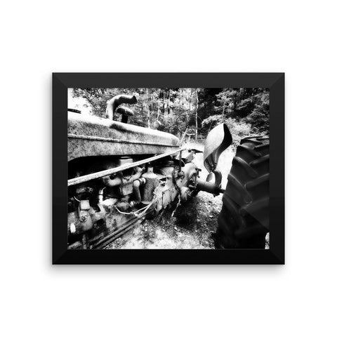 Rusted Mule Framed Black and White Poster
