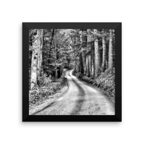 A Better Highway Framed Black and White Poster