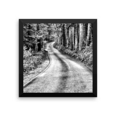 That Road Framed Black and White Poster