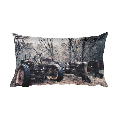 Three of a Kind Tractors Decorative Pillow
