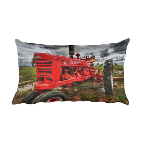 Earnest Tractor Throw Pillow