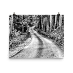 That Road Unframed Black and White Poster