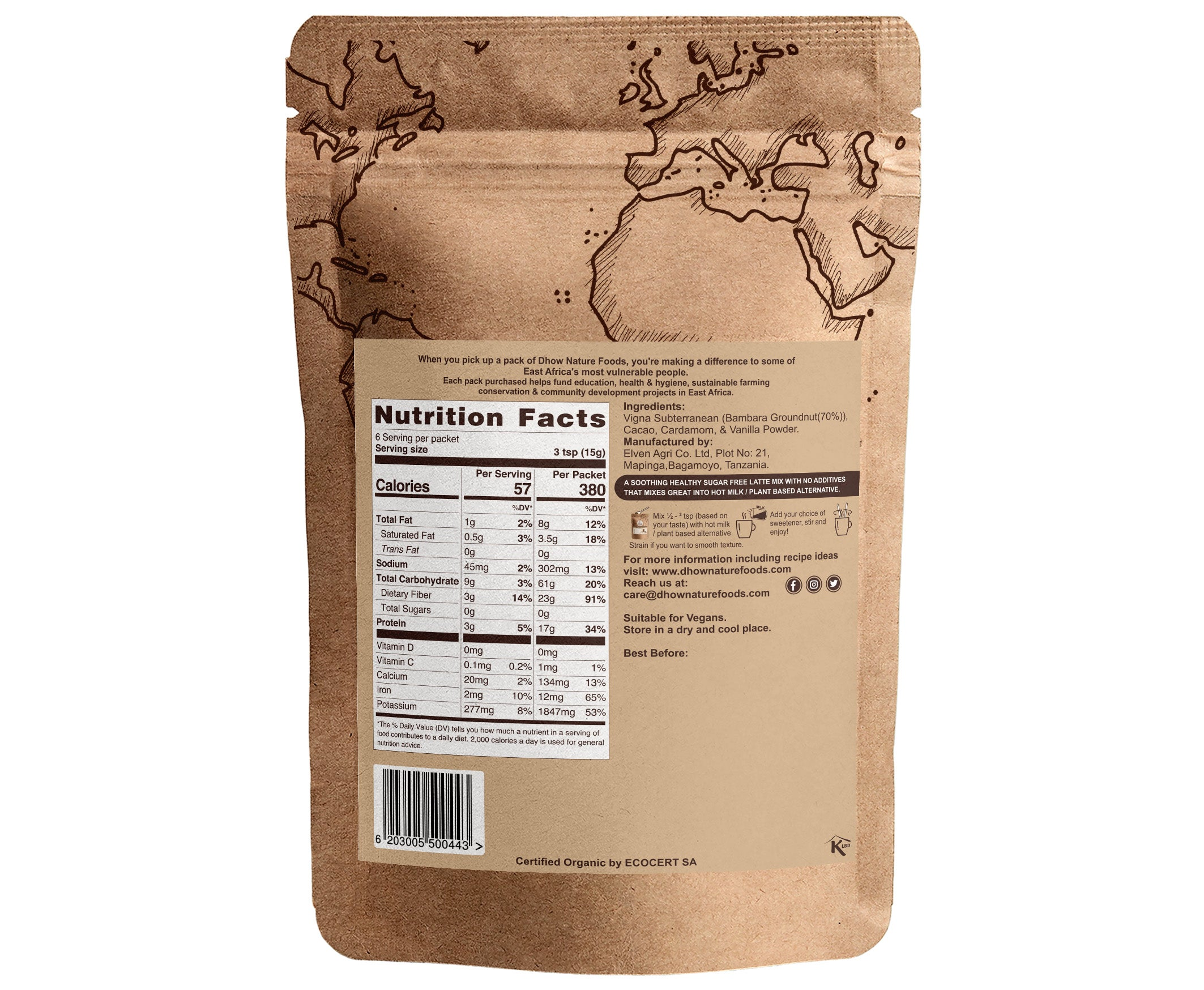 Bam Choco Latte - Vegan & High Protein(100g)