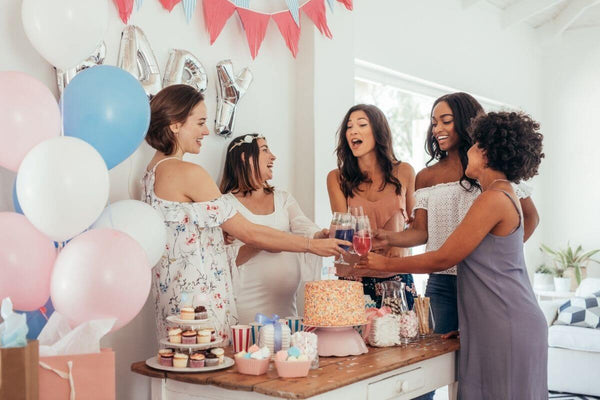 ladies at a modern baby shower