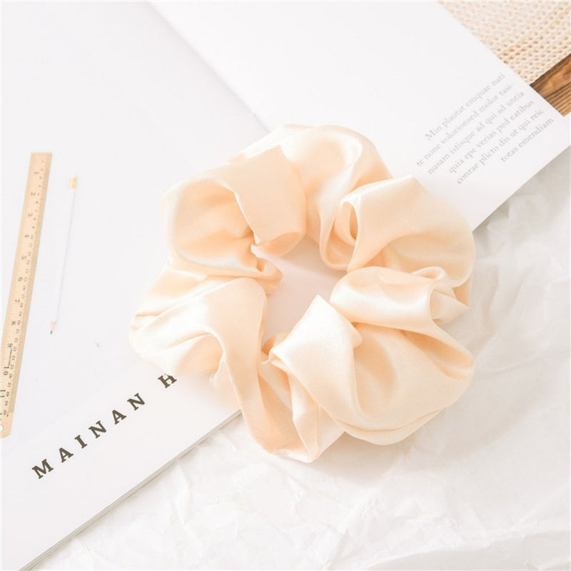 Champagne Satin Hair Scrunchie