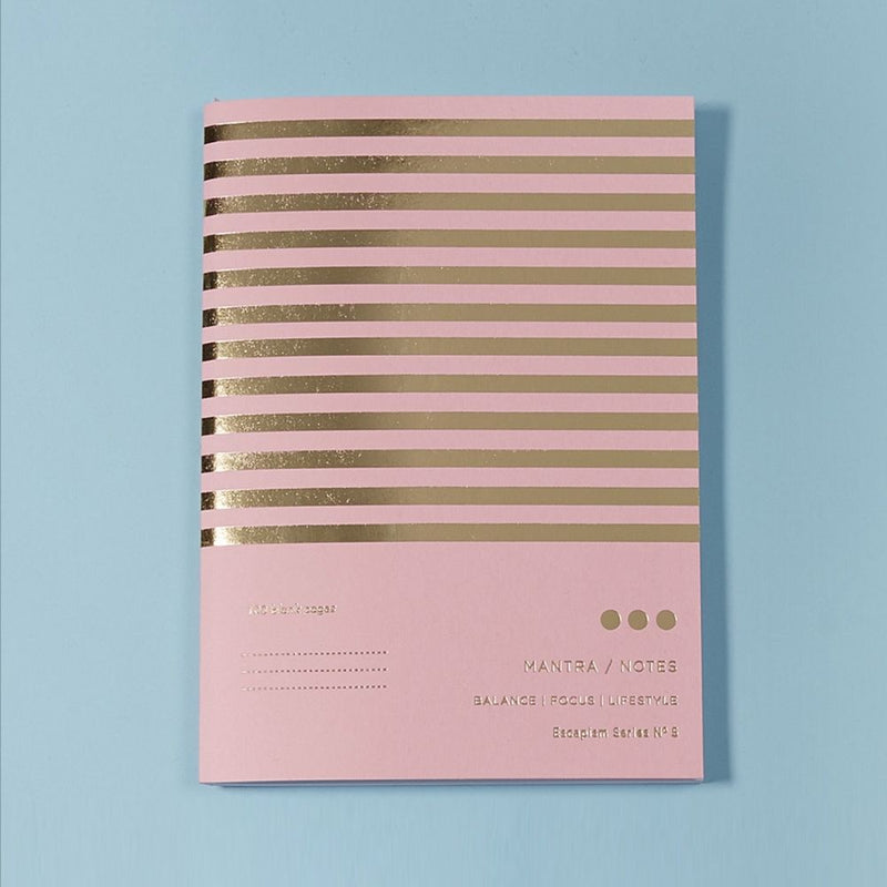 Pink Gold Foil Notebook