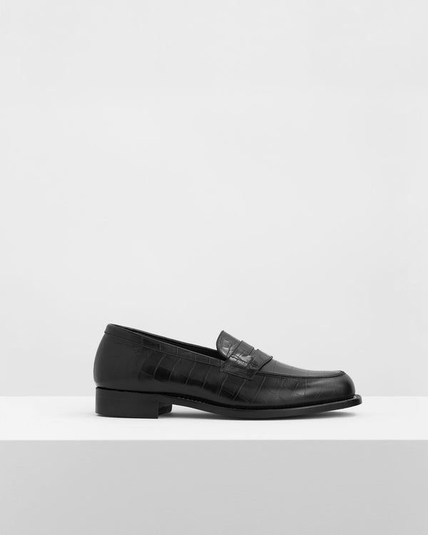 Coin Loafers – Crocodile