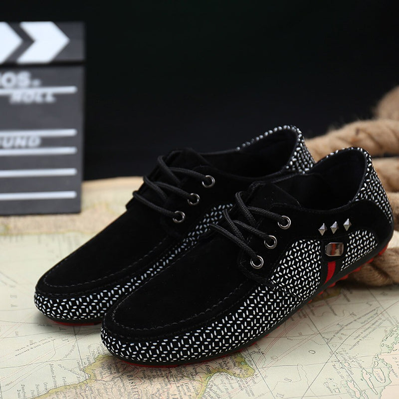 Black Overlay Mesh Lace-Up Sneakers