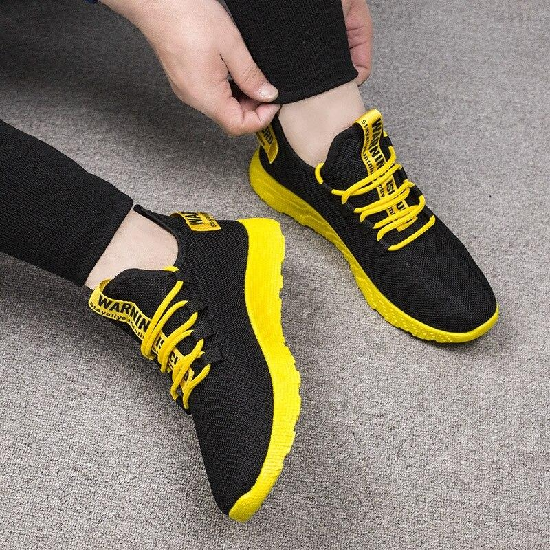 Contracting Sole Air Mesh Lace Up Sneakers