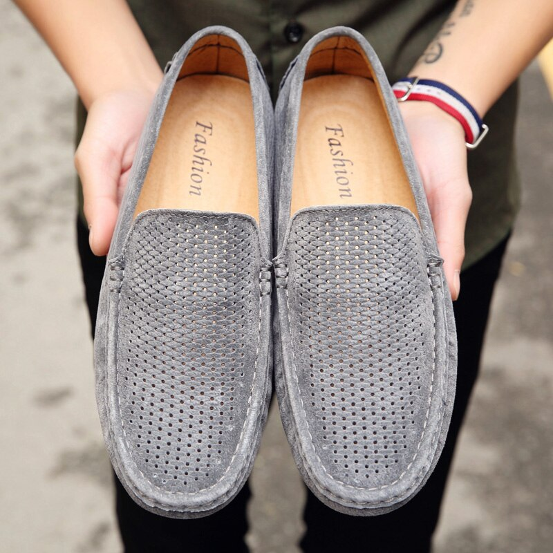 Suede Mesh Men Loafers