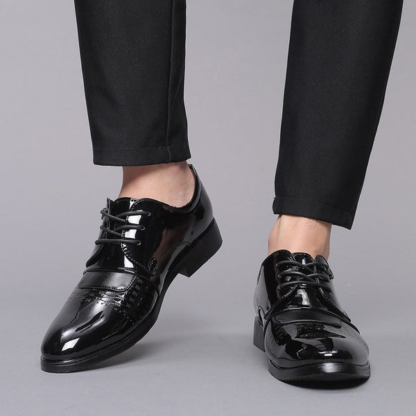 Fashion PU Leather Oxfords - Tsubo Shoes