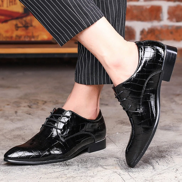 Men Classic Croc Style Lace Up Oxfords - Tsubo Shoes