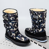 Plush Winter Camo Hook & Loop Snow Ankle Boots - Tsubo Shoes