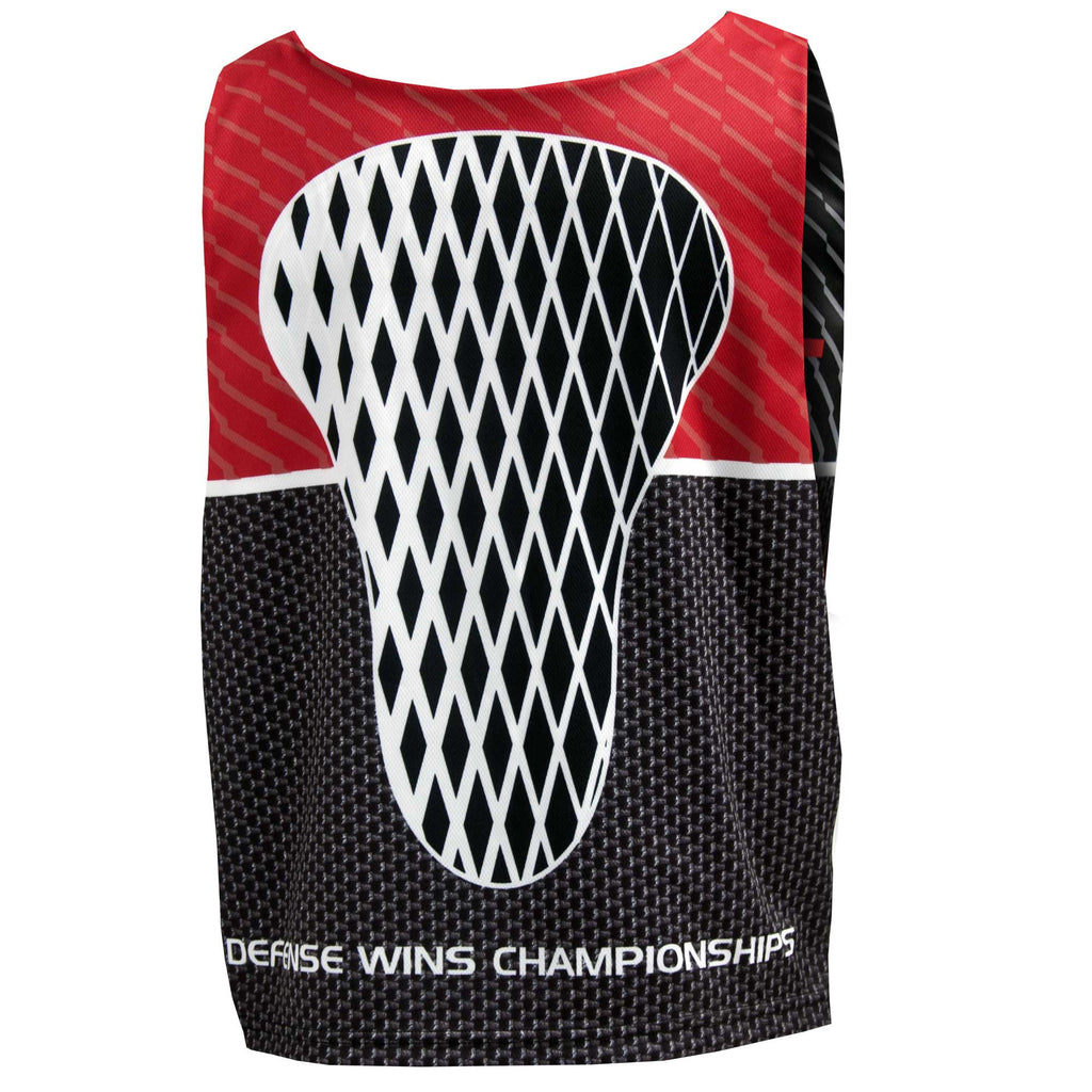 Fit 2 Win D-UNIT Black Gray Red Reversible Lacrosse Tank Top