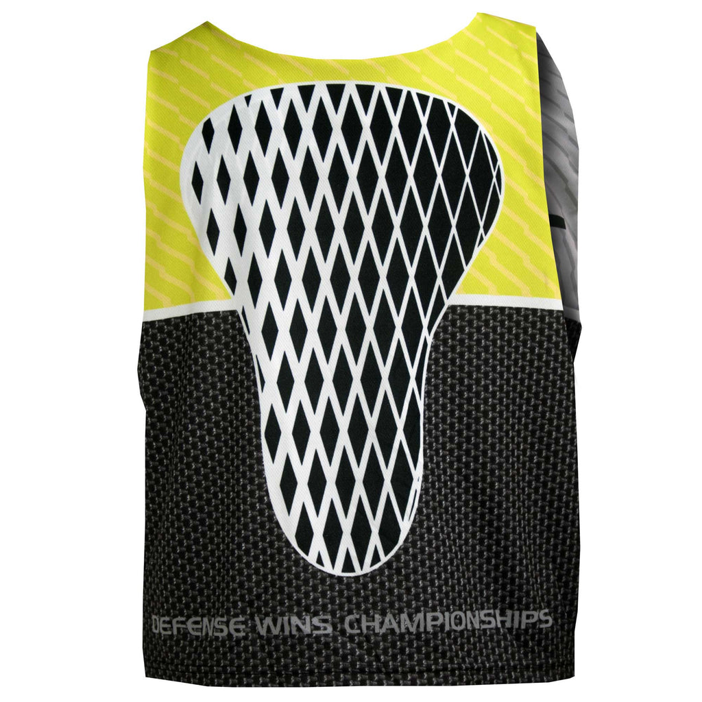 Fit 2 Win D-UNIT Black Gray Neon Yellow Reversible Lacrosse Tank Top