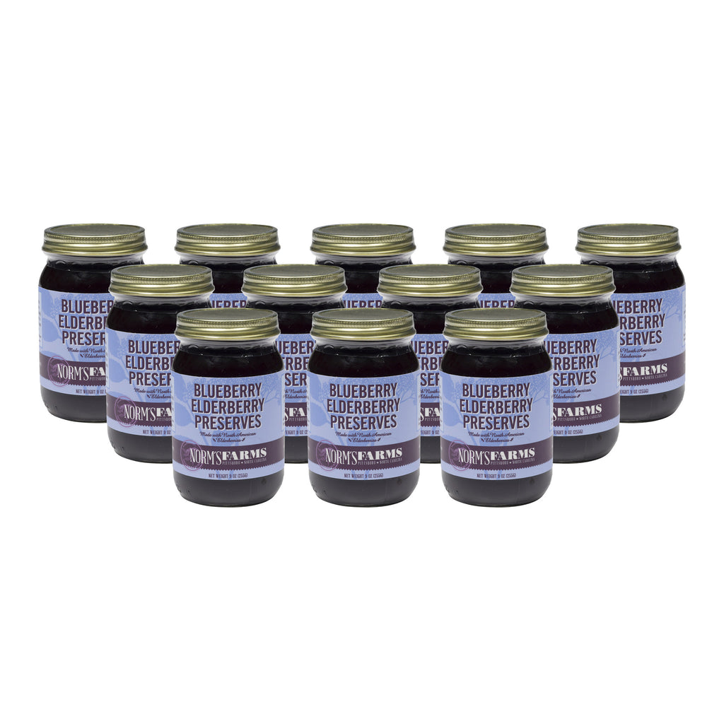 Norm's Farms Blueberry Elderberry Preserves by the case