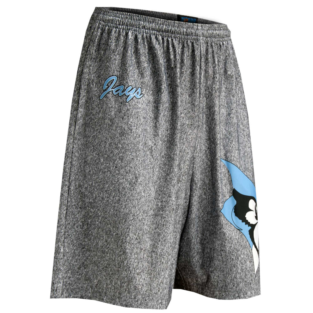 Fit 2 Win Hopkins Light Blue and Heathered Gray Sublimated Shorts