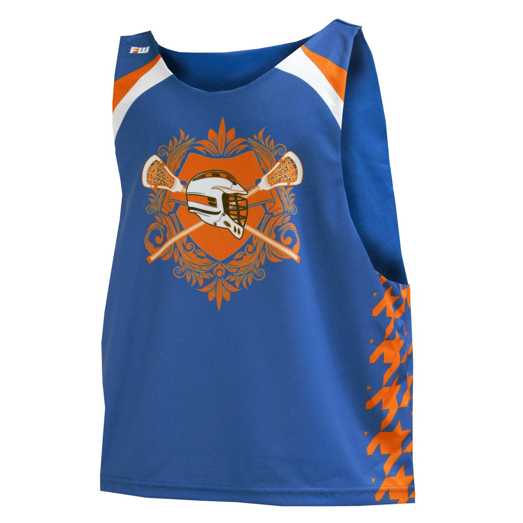 Fit 2 Win Crown Collection Royal Blue Orange White Sublimated Lacrosse Tank Top