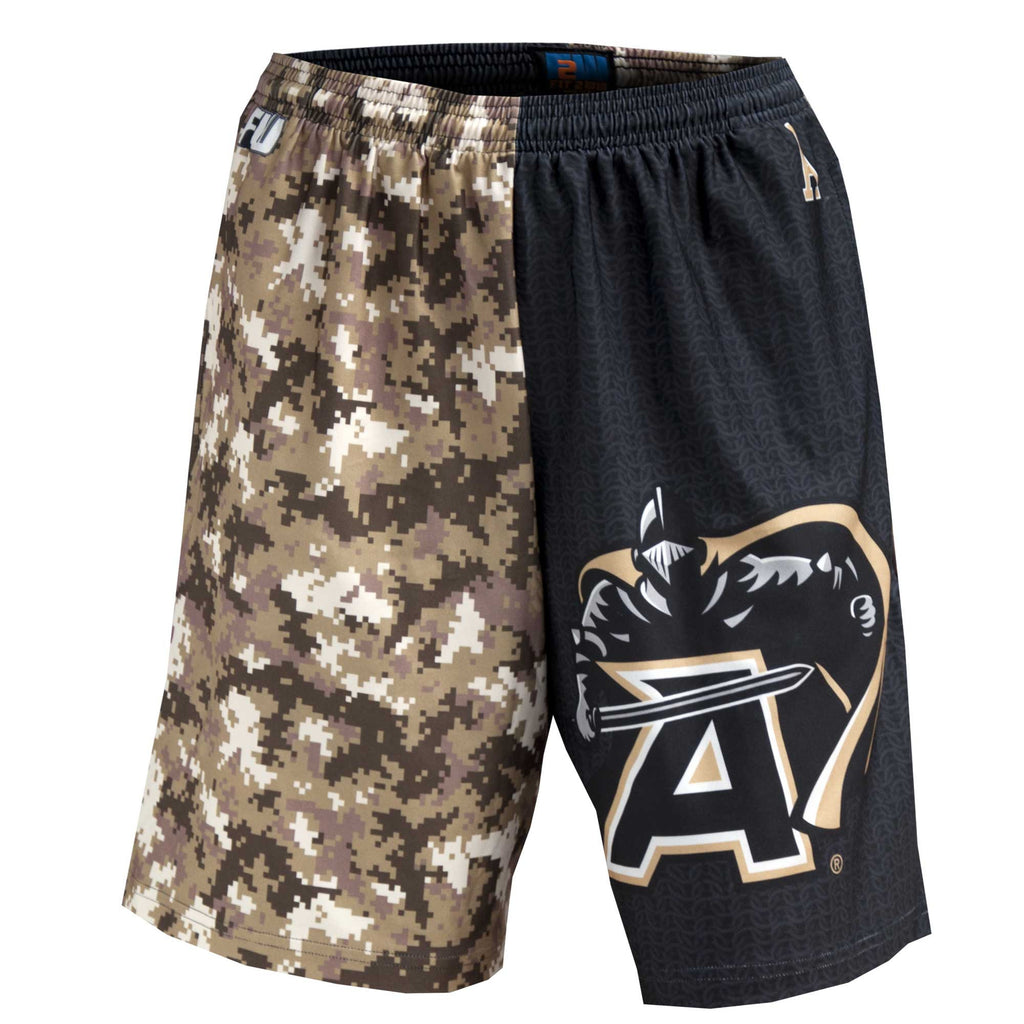 Fit 2 Win Army Black and Gold Sublimated Shorts