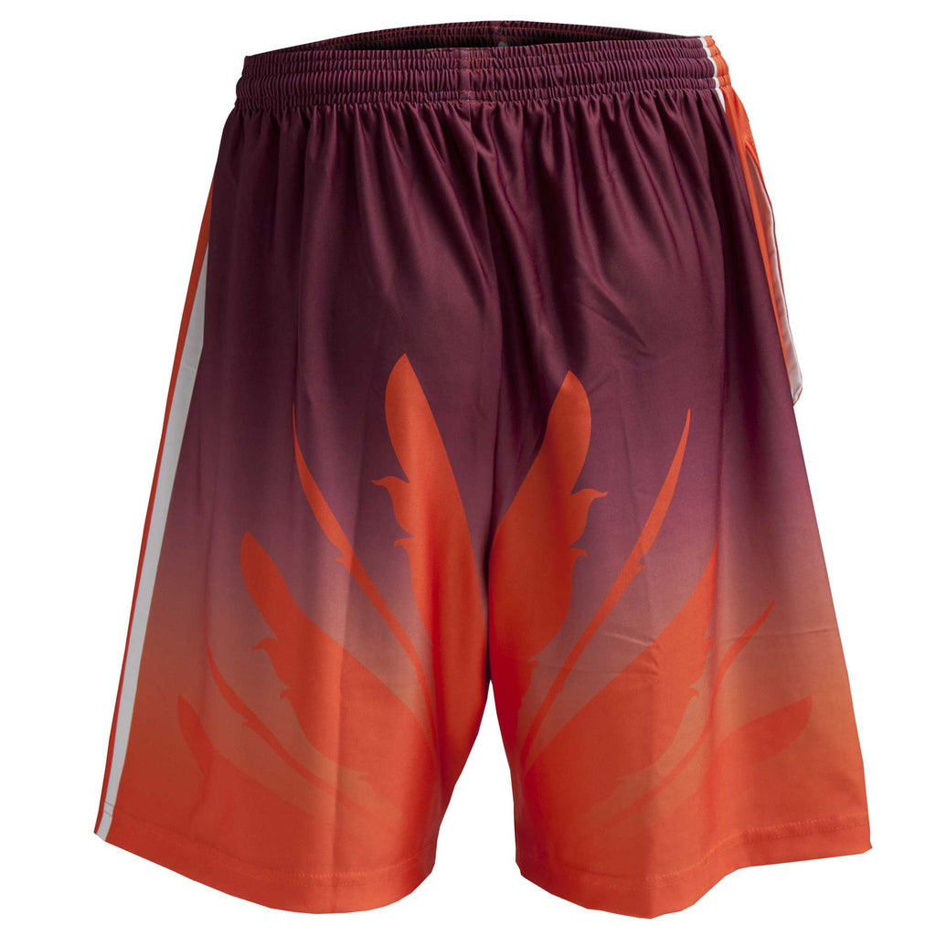 Fit 2 Win Virginia Tech Hokie Maroon and Orange Sublimated Shorts