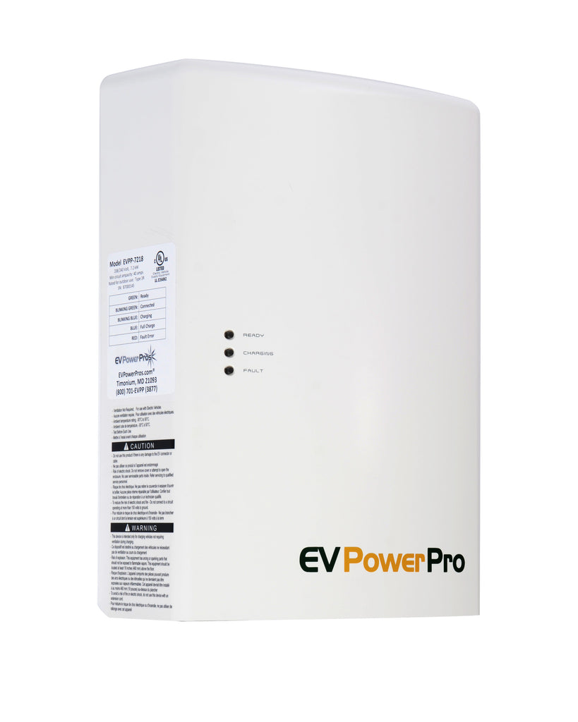 EVPowerPros 7.2kW Level 2 Weatherproof Electric Vehicle Charger, needs 40A Cir.