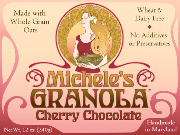 Michele's Cherry Chocolate Granola 12 Ounces, Pack of 3