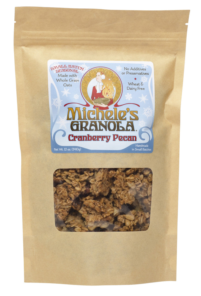 Michele's Cranberry Pecan Granola 12 Ounces, Pack of 3