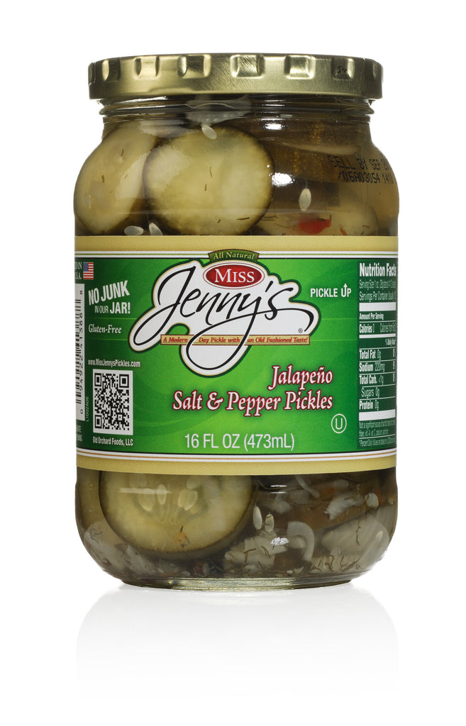 Miss Jenny's Pickles Jalapeno Salt & Pepper 6 Pack