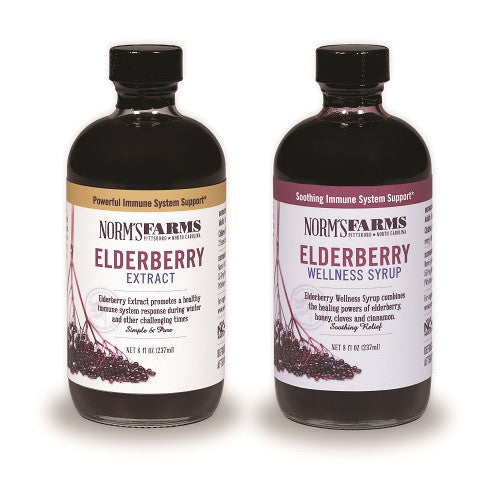 Norm's Farms Supplement Two Pack, Elderberry Wellness Syrup & Elderberry Extract
