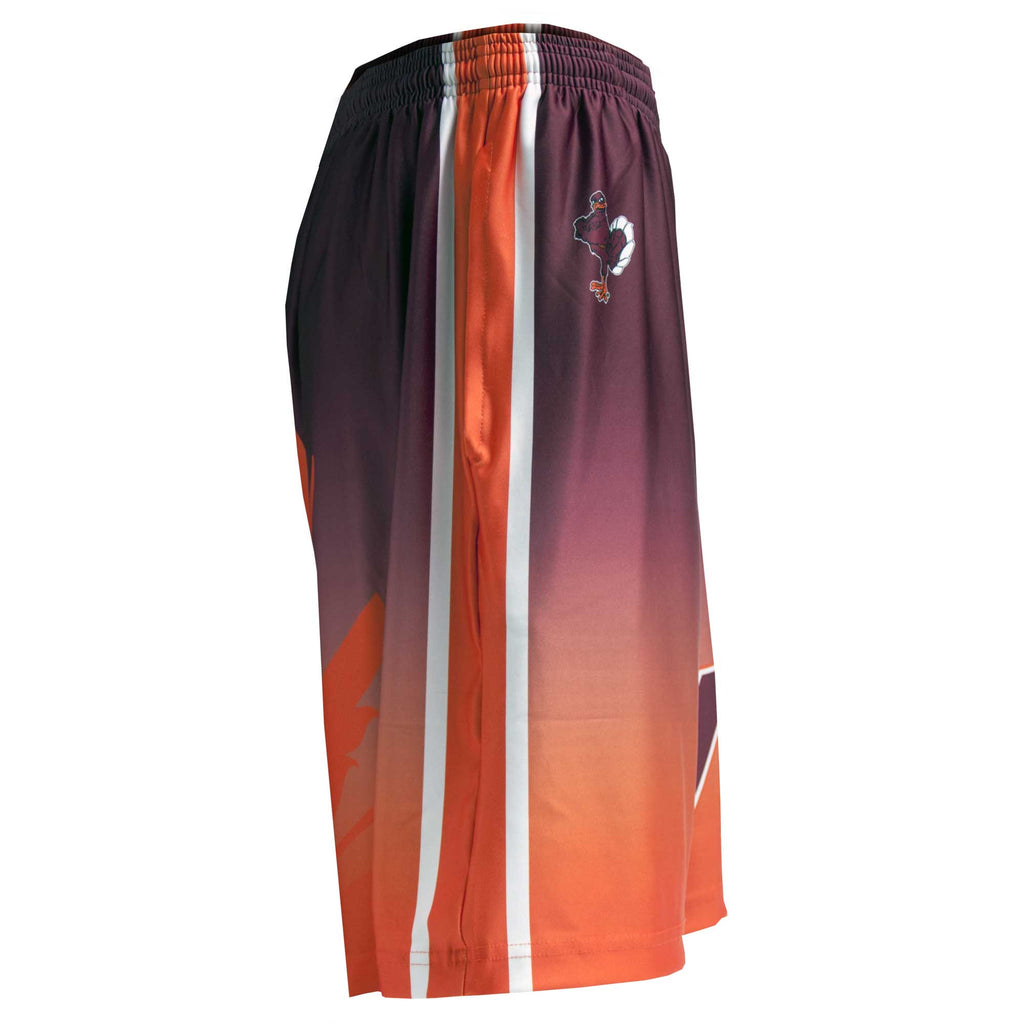 Fit 2 Win Youth Virginia Tech Hokie Maroon and Orange Sublimated Shorts