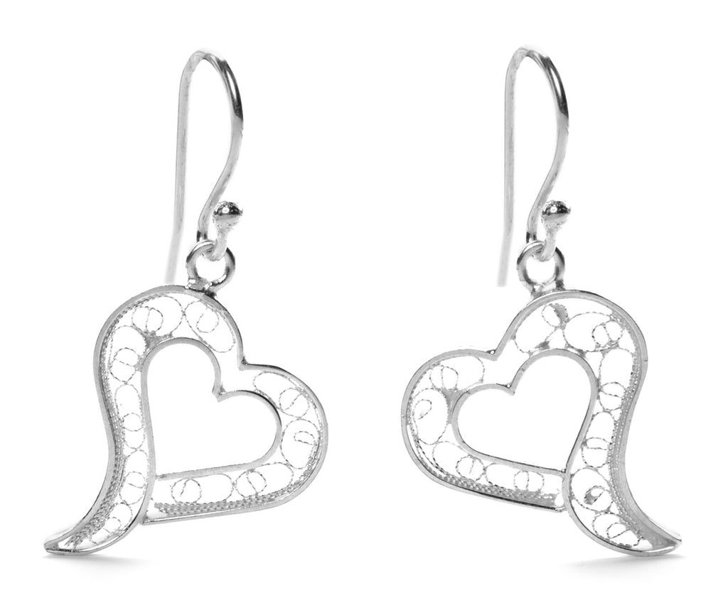 Filigree Open Heart Earrings from Peru by Partners For Just Trade