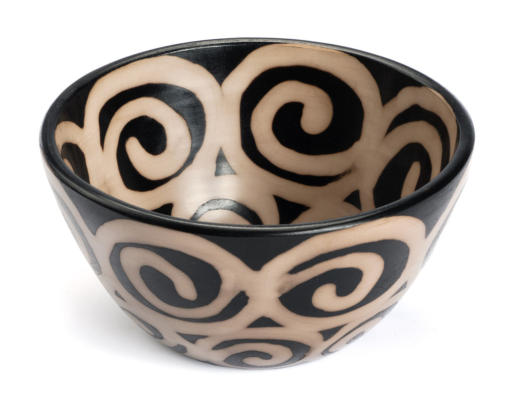 Small Chulucanas Spiral Bowl from Peru by Partners For Just Trade