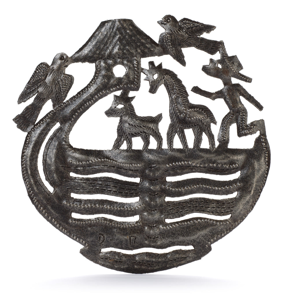 Noah's Ark Metal Art from Haiti by Partners For Just Trade