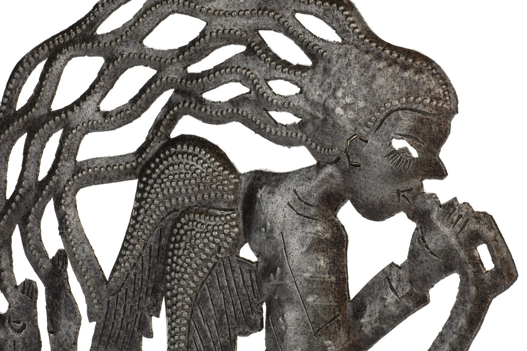 Angel Metal Art from Haiti by Partners For Just Trade