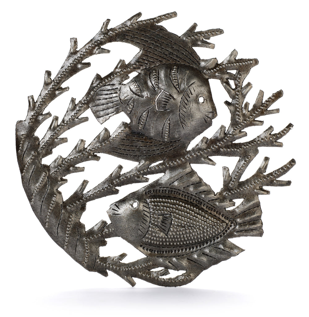 Two Fish Metal Art from Haiti by Partners For Just Trade