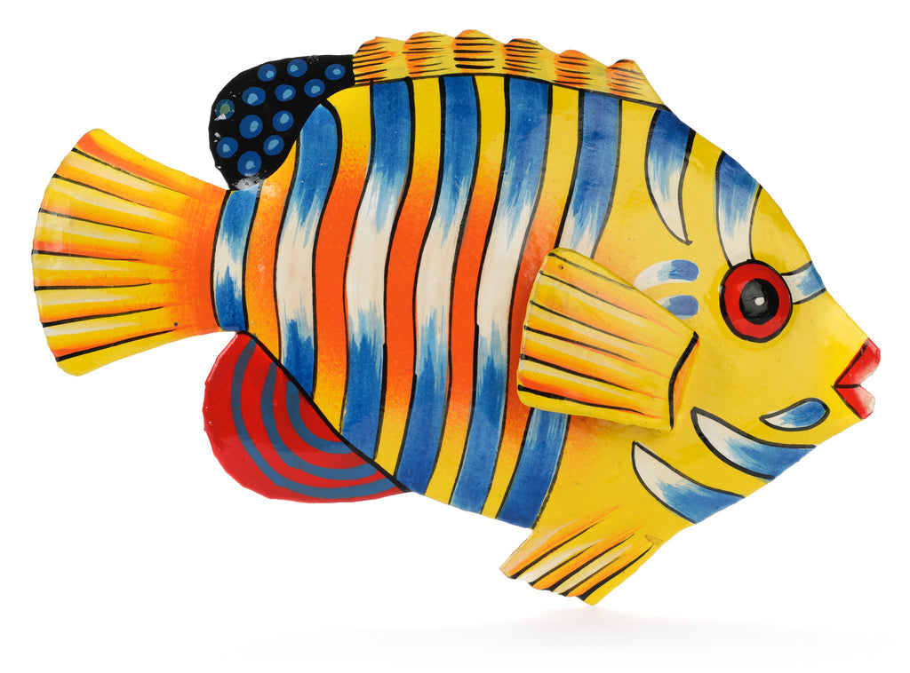 Striped Fish Metal Art from Haiti by Partners For Just Trade