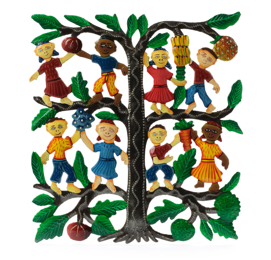Tree of Plenty Children Metal Art by Partners for Just Trade