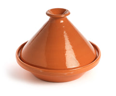 Tunisian Ceramic Pottery Tagine Glazed Terracotta