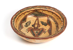 Decorative Tunisian Ceramic Pottery Bowl from Sejnane